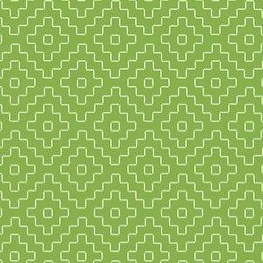 faux sashiko pluses in fresh green