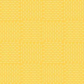 faux sashiko weave in honey-gold