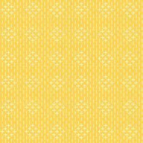 faux sashiko diamond in honey-gold