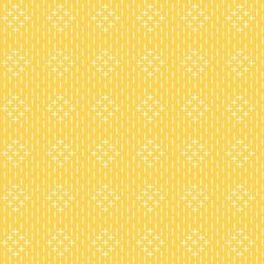 faux sashiko diamond in honey-gold