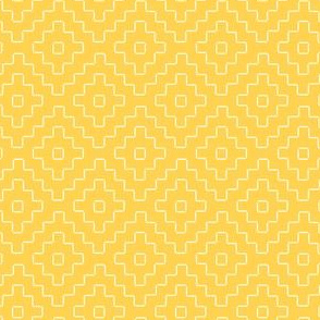 faux sashiko pluses in honey-gold