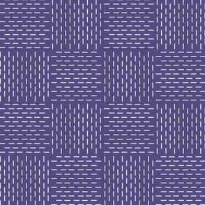 faux sashiko weave in soft purple