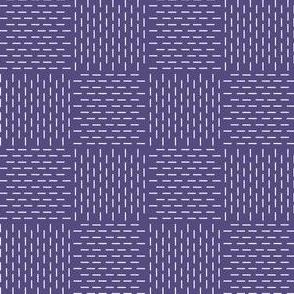 faux sashiko weave in soft purple