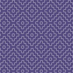 faux sashiko pluses in soft purple