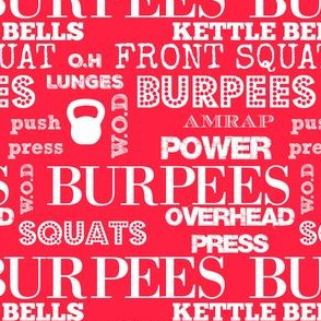 I love burpees red