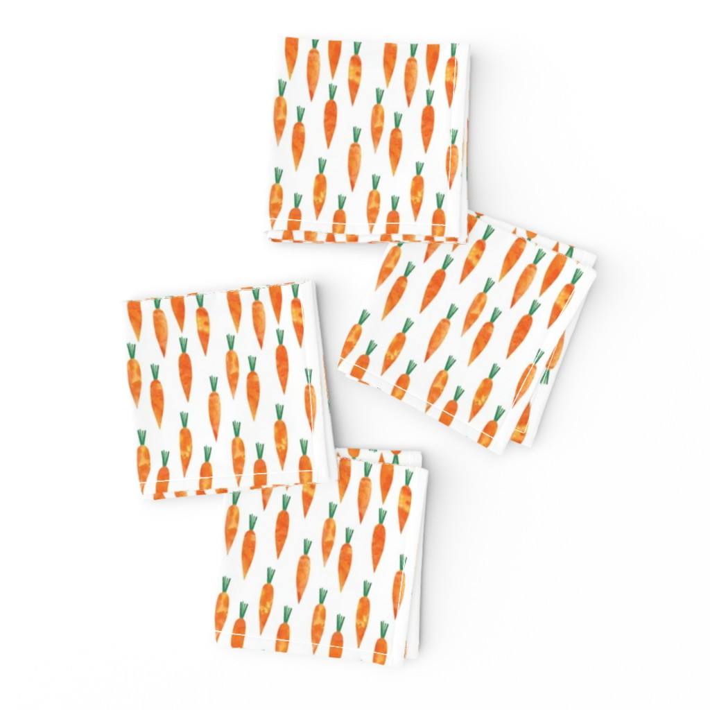 Frizzle Cocktail Napkins featuring carrots (small scale) by littlearrowdesign