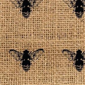 Bees on Burlap