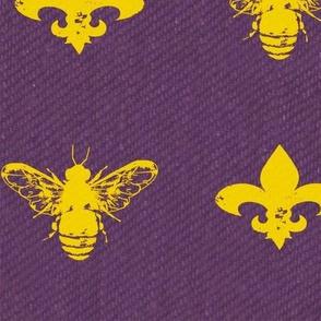 Fleur de Bees Purple and Honey Gold