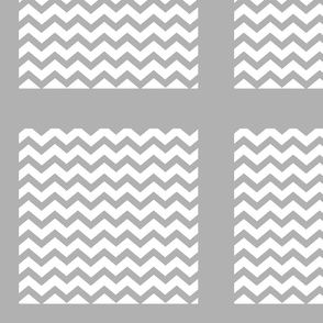 Chevron2  QUILT square 12 - gray