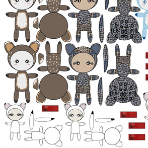 Panimals Assorted Rag Dolls