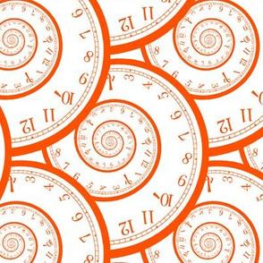 "caught in a time spiral (orange, 6"")"