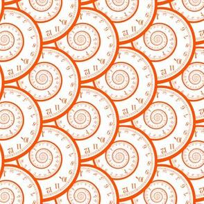 "caught in a time spiral (orange, 3"")"
