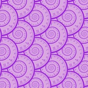 """mad clock spirals (lavender/purple, 3"""")"""