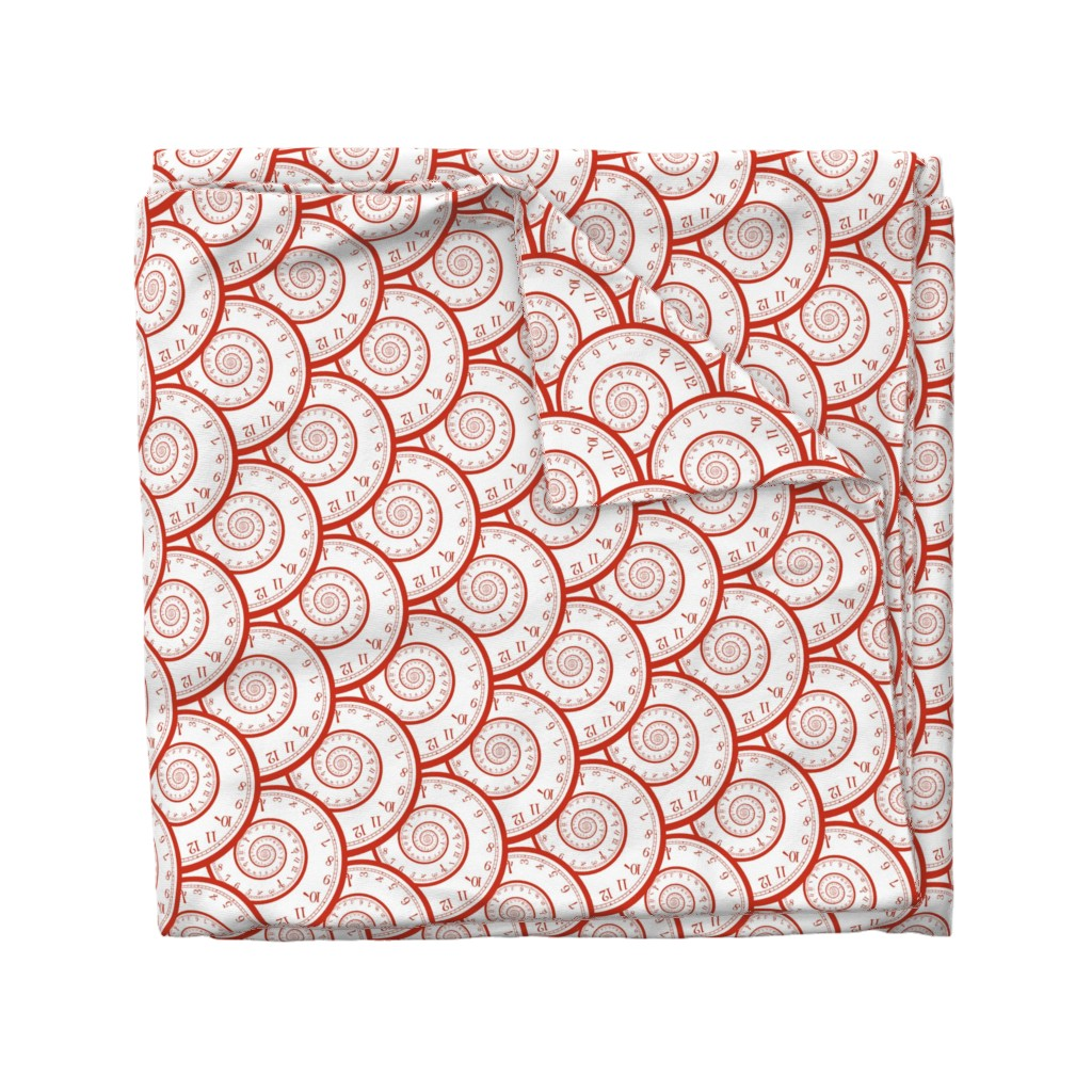 Wyandotte Duvet Cover featuring time spiraling out of control by weavingmajor