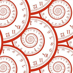 """time spiraling out of control (6"""" red)"""