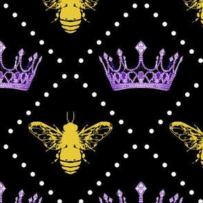 Queen Bee Crowns and Pearls Purple