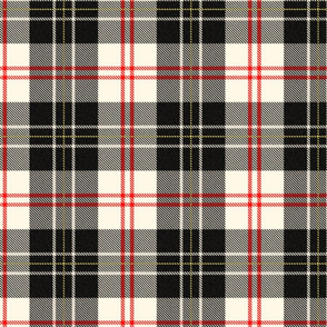 MacPherson Tartan ~ Classic ~ Aristorat, Libertine, Black on Cosmic Latte