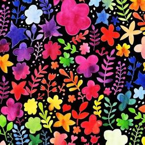Rainbow Watercolor Foliage