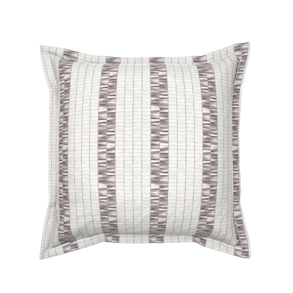 Serama Throw Pillow featuring Wampum Stripe Taupe Pearl 300 by kadyson