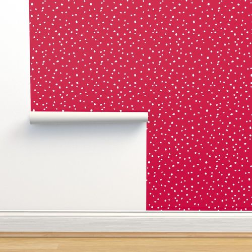 Wallpaper Confetti Dots Red And White