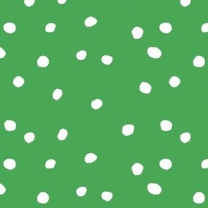 COTTON BALL DOTS Leaf Green