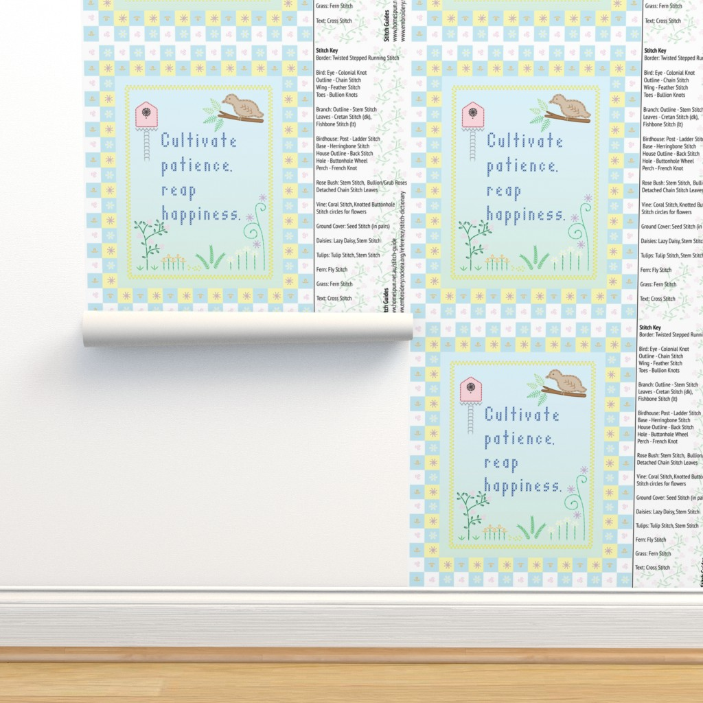 Sweet Sampler on Isobar by et_al | Roostery Home Decor