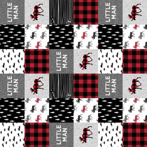 """3"""" small scale (90) - little man patchwork quilt top 