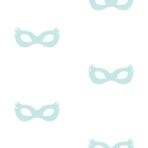 Girly Superhero Masks in Dusty Aqua