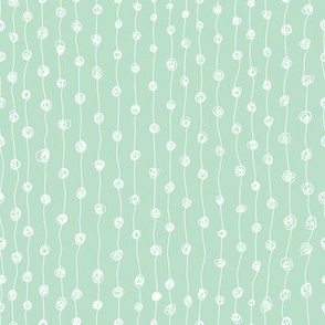 Dot Line White on Mint Coordinate