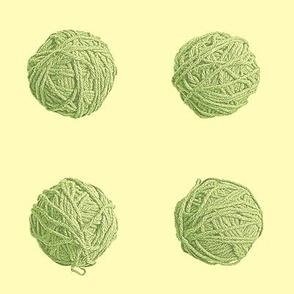 little yarn balls - green tea