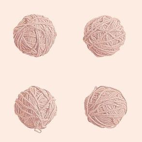 little yarn balls - terra cotta