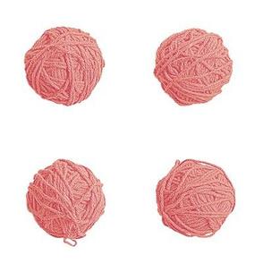 little yarn balls - soft red