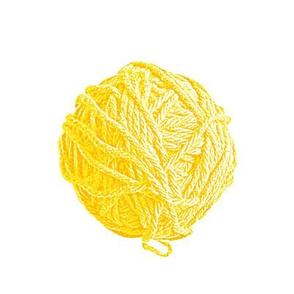 big yarn balls - saffron yellow