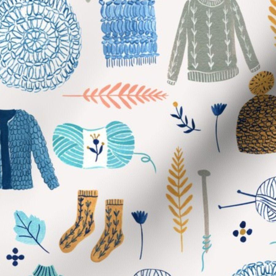 7e6fe2cd5 We Love Yarn/ Yar clothes/ Handmade DIY Fabric/ Winter Holidays Fabric ...