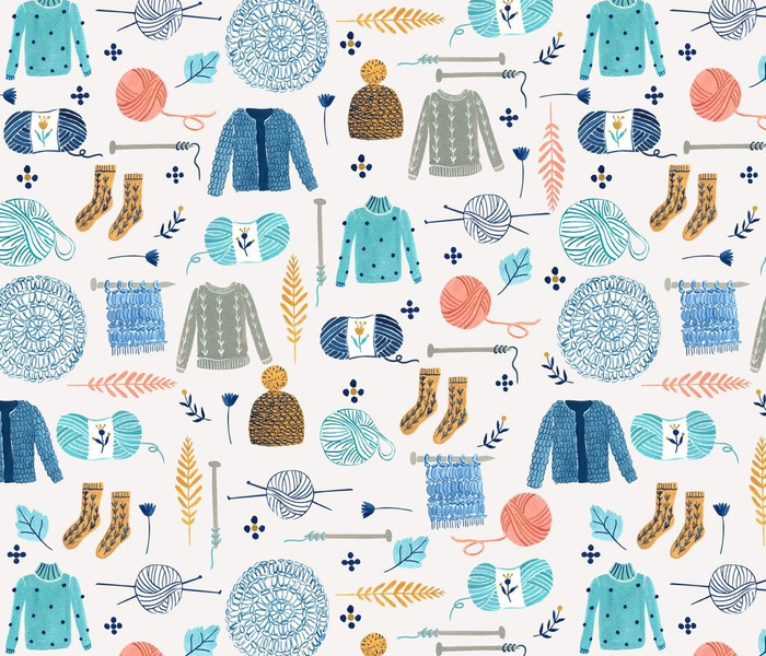 We Love Yarn/ Yar clothes/ Handmade DIY Fabric/ Winter Holidays Fabric