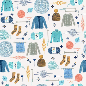 We Love Yarn/ Yar clothes/ Handmade DIY Fabric/ Winter Holidays Fabric