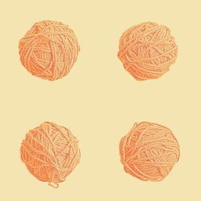 little yarn balls - orange creamsicle