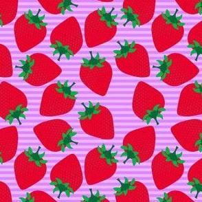 Striped Strawberries on Purple