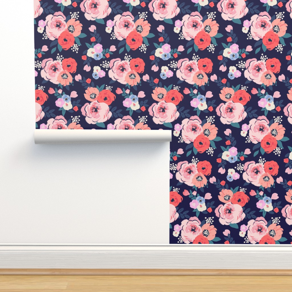 Isobar Durable Wallpaper featuring Aurora-Floral by crystal_walen