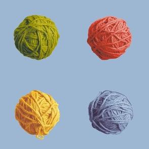 little yarn balls - autumn colors