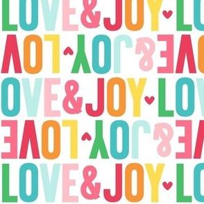 love joy alternating LG colorful christmas UPPERcase