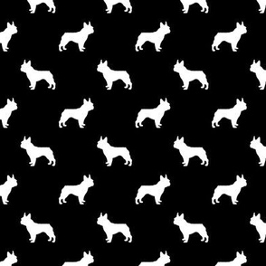 french bulldog fabric dog silhouette fabric - black