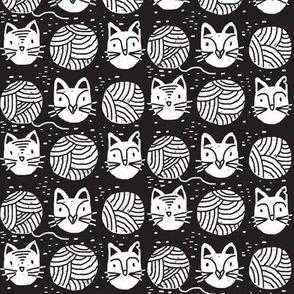 Yarn cats - dark