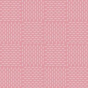faux sashiko weave in hyacinth pink