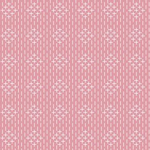 faux sashiko diamonds on hyacinth pink