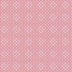 faux sashiko diamonds on hyacinth pink