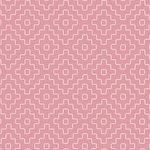 faux sashiko plus on hyacinth pink