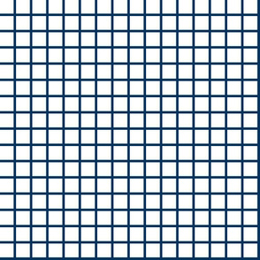 grid // navy grid fabric stripes navy and white