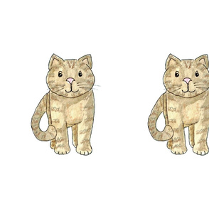 Two Tabby Cats Fat Quarter