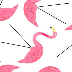 Large Lawn Flamingos